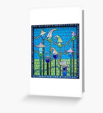 Clowntown Highrises Greeting Card