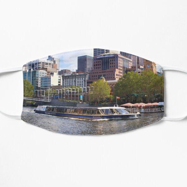 Tour boat, Yarra River, Melbourne, Australia Flat Mask
