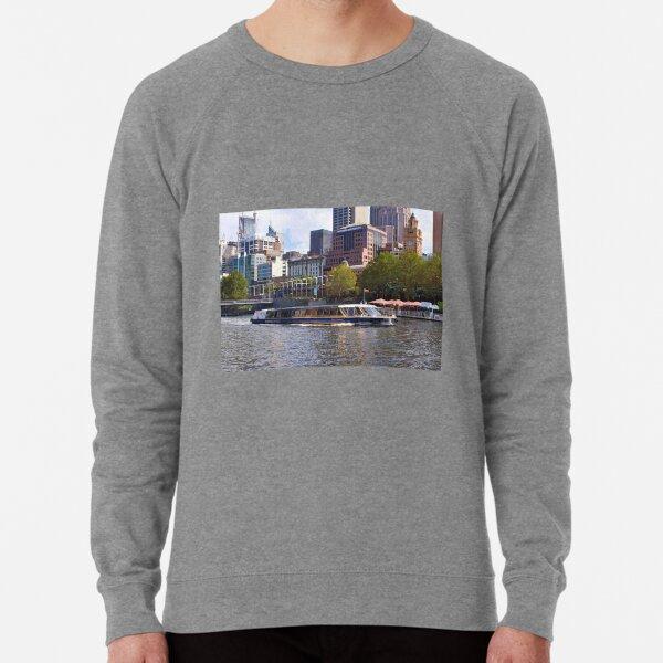 Tour boat, Yarra River, Melbourne, Australia Lightweight Sweatshirt