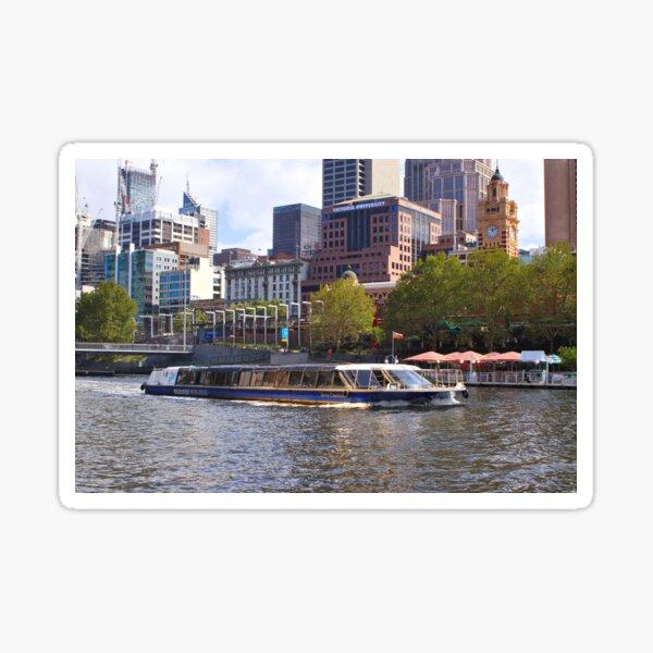 Tour boat, Yarra River, Melbourne, Australia Sticker