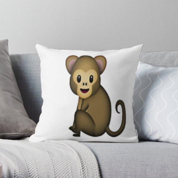 MONKEY EMOJİ !!!!! Throw Pillow