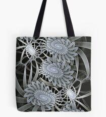 Winter mood, abstract fractal wallart Tote Bag