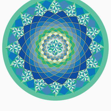 sacred blue mandala by loko