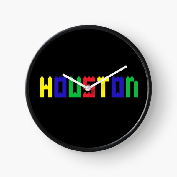 Name Brick Baby Kids for Boys Houston   Clock