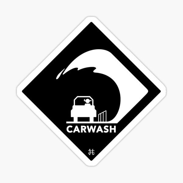 Carwash Sticker