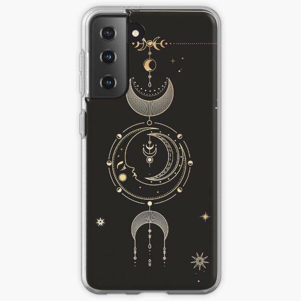 La carte de tarot de la lune Coque souple Samsung Galaxy