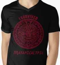 Mayan Apocalypse Survivor Mens V-Neck T-Shirt