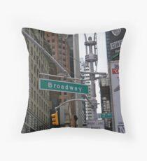Broadway, NYC Throw Pillow