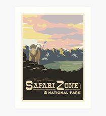 Lámina artística Zona de Safari