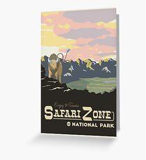 Safari Zone Greeting Card