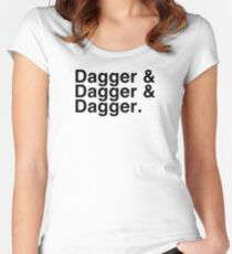 Helvetica List - Dagger Dagger Dagger - Critical Role Women's Fitted Scoop T-Shirt