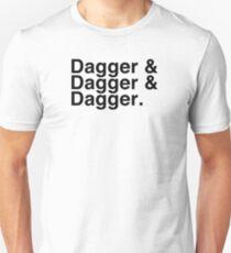 Helvetica List - Dagger Dagger Dagger - Critical Role T-Shirt