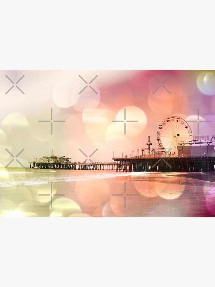 Sparkling pink Santa Monica Pier by stine1