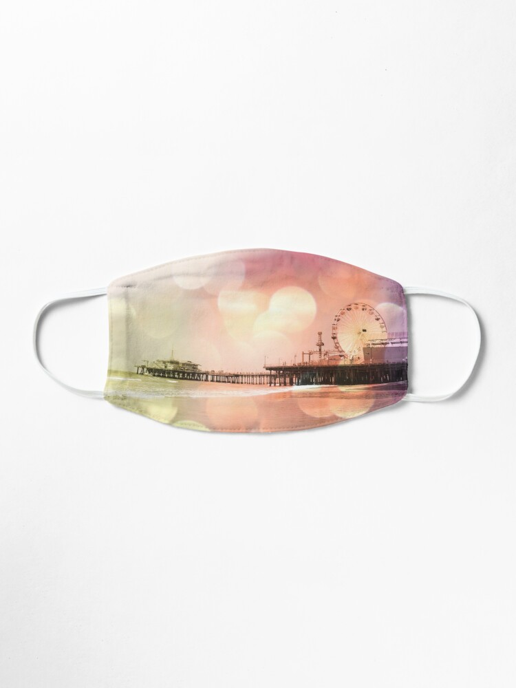 Alternate view of Sparkling pink Santa Monica Pier Mask