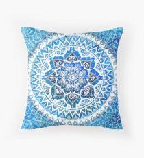 Watercolour Yin Yang Mandala Throw Pillow