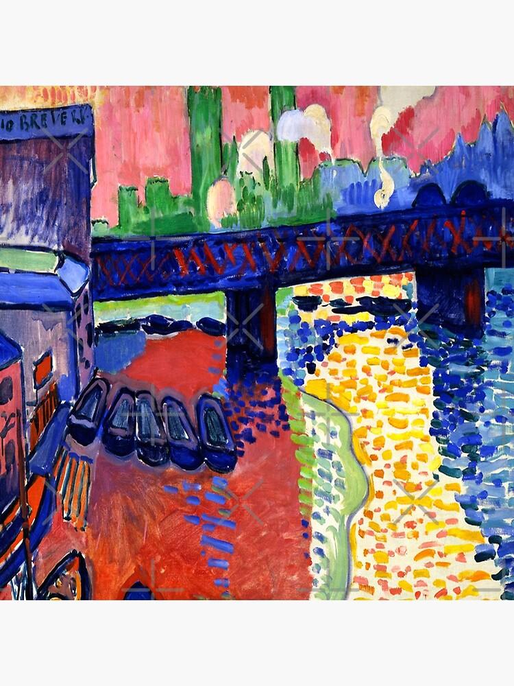 Charing Cross Bridge, London-Andre Derain by LexBauer