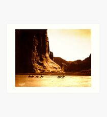 Vintage Photograph of Canyon de Chelly Art Print