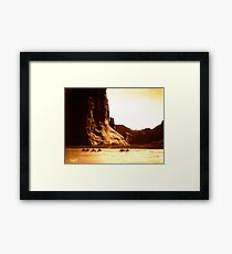 Vintage Photograph of Canyon de Chelly Framed Print