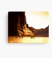 Vintage Photograph of Canyon de Chelly Metal Print