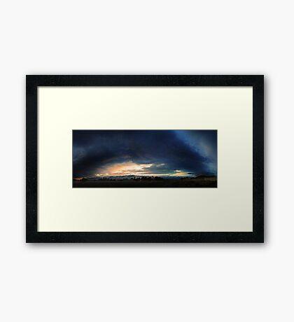 Severe Thunderstorm - December 13 2012  Framed Print