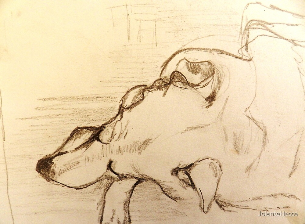 Quick Drawing of Joshua While Sleeping by JolanteHesse