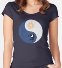 Celestia and Luna Yin Yang Women's Fitted Scoop T-Shirt
