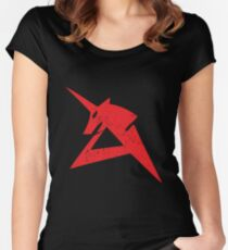 Red Unicorn Fitted Scoop T-Shirt