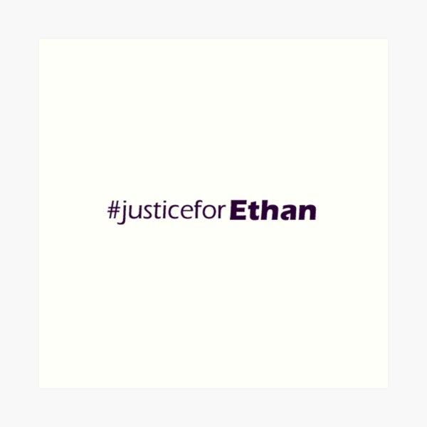 #JusticeForEthan Logo Art Print