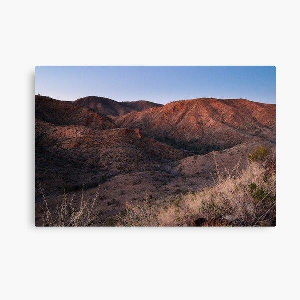 Dawn near Grindells Hut, Flinders Ranges SA Canvas Print