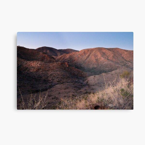Dawn near Grindells Hut, Flinders Ranges SA Metal Print