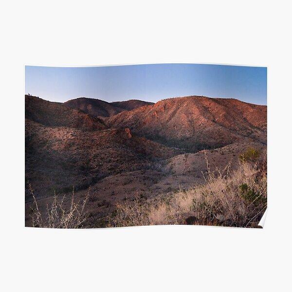 Dawn near Grindells Hut, Flinders Ranges SA Poster