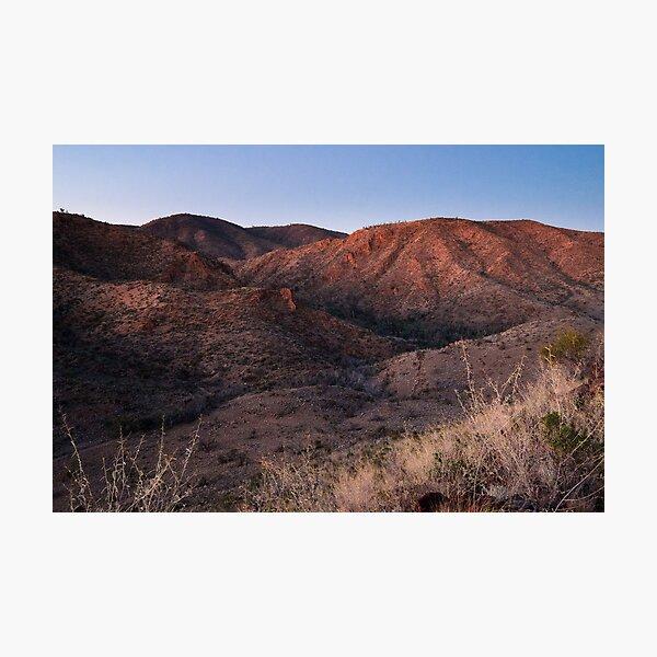Dawn near Grindells Hut, Flinders Ranges SA Photographic Print