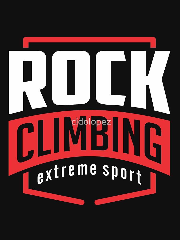 Rock Climbing Extreme Sport Black by cidolopez
