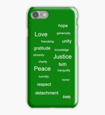 Justice - Green iPhone Case/Skin