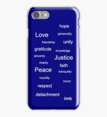 Justice - Blue iPhone Case/Skin