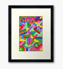 IRREGULAR ARTWORK Framed Print