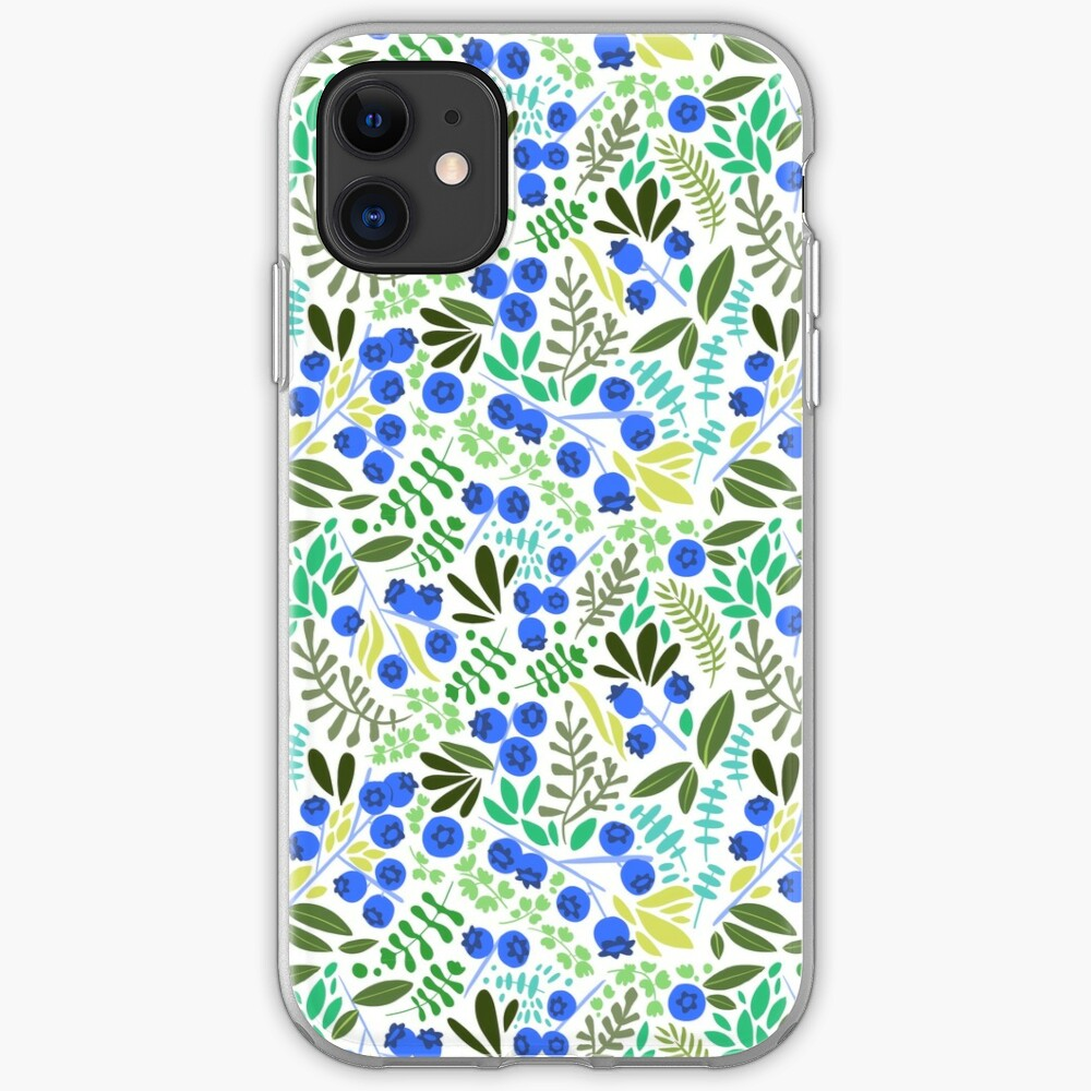 Blueberry Pattern iPhone Case & Cover