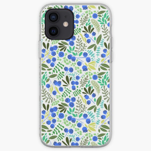 Blueberry Pattern iPhone Soft Case