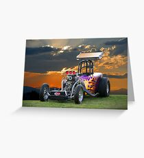 A/Altered Drag Car Greeting Card