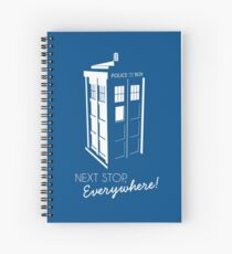 Police Call Box - Next Stop Everywhere! Spiral Notebook