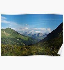 Scenery near Furkajoch, Austria Poster