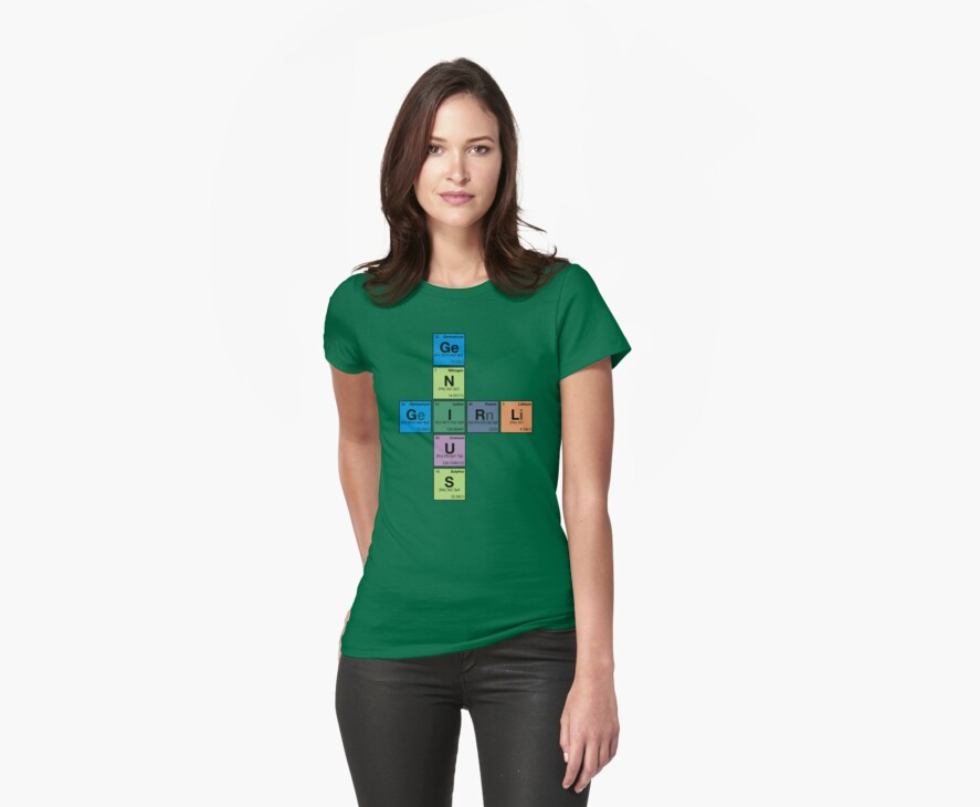 GIRL GENIUS! Periodic Table Scrabble by dennis william gaylor