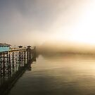Llandudno Pier in the fog by RH-prints