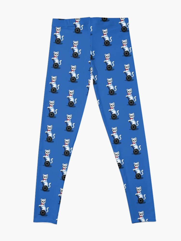 Alternate view of White and Nerdy Leggings
