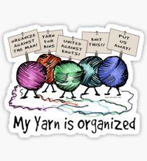 Yarn: Organized! Sticker