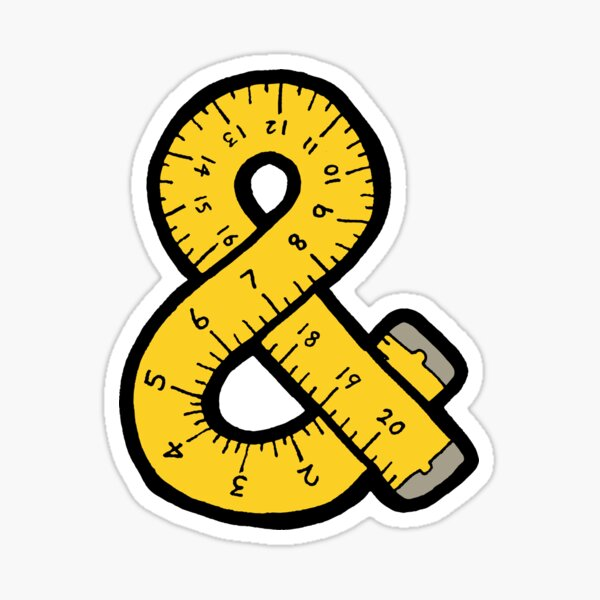 Ampersand Measuring Tape Sticker