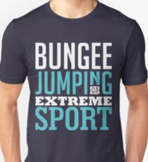 Bungee Jumping Extreme Sport Graphic Art T-Shirt