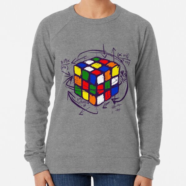 Rubiks Math On Light Leichter Pullover