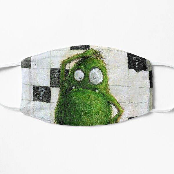 confused green monster... Flache Maske