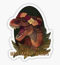 Dinosaur Eats Man Sticker